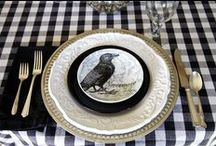 All Hallow's Eve Table Decor / bring out the fine china~ it's time for a spooktacular dinner~ / by Terrie