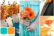 Teal & Orange Wedding / by The American Wedding