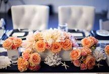 Navy & Peach Wedding / by The American Wedding