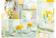 Mint & Yellow Wedding / by The American Wedding