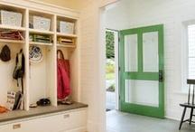HOME-MUD ROOM IDEAS / by Joanne Erickson