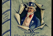 """Uncle Sam / On September 7, 1813, the United States adopted the nickname, Uncle Sam. It all began when Samuel Wilson, a meat packer from New York sent barrels of beef to U.S. soldiers during the War of 1812. Samuel Wilson stamped all of the barrels """"U.S."""" for the United States. Our time tested clever soldiers began referring to the arrival of Wilson's barrels of beef as """"Uncle Sam's."""" A newspaper reported the story & soon thereafter Uncle Sam gained notoriety and acceptance as the nickname for the U.S.    / by Buzzard's Emporium"""