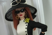 Barbie Dolls / I started making clothes for Barbie out of scrap fabric when I was 12 for my little sister's Barbie. Now I love making Barbie clothes and accessories for my granddaughter's Barbies!  / by MaryJane Perry Hall