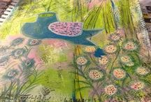 art journal/ Mixed Media Inspiration / Mixed Media Inspiration / by Susan O'Neal