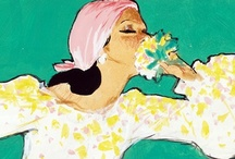 "René Gruau: Refined / Fashion illustrator and painter René Gruau (1909-2004) infused the world of style with a fresh perspective, helping commercialize designers and haute couture. His artwork is widely respected and influential. Grau said, ""Elegance is fluid. It consists of desire and knowledge, grace, refinement, perfection, and distinction.""