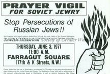 DC's Soviet Jewry Movement: Let My People Go! / For nearly 25 years ending in 1991, the D.C. area's Jewish community worked on behalf of the Jews of the Soviet Union, who were unable to emigrate or practice Judaism without persecution or discrimination. The community held a daily vigil outside the Soviet Embassy for more than 20 years, met with refuseniks in the Soviet Union, and organized protests of Soviet immigration tactics and policies.