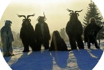 """wise guise / masked ritual figures...shamans, horn dancers, mummers, morris dancers, jack-in-the-green, solstice revelers, """"hobby horses"""", the ooser, krampus, julbok, the old tup, perchta/berchta, ru-klas, pelznickel, and many others... / by Ann Loker"""
