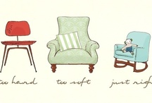 Chairs and sofa illustrations / by Sara Piersanti