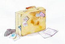 Travel bags illustrations / by Sara Piersanti