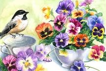 Art: Flowers/Birds/Butterflies... / by Sylvia