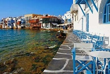 "Mykonos... / Welcome to Greece's most famous cosmopolitan island, a whitewashed paradise in the heart of the Cyclades. According to mythology, Mykonos was formed from the petrified bodies of giants killed by Hercules. And did you know that the island took its name from the grandson of Apollo, ""Mykonos""? / by Visit Greece"