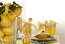 Lemonade Stand / Lemon yellow is used liberally in this whimsically light baby shower theme. / by HUGGIES Baby Shower Planner