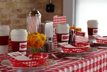 Mom's Diner / Welcome to Mom's Diner. Break out the gingham, fire up the jukebox, slather syrup on a short stack and sip on some mini malted milkshakes in this diner-inspired baby shower theme. / by HUGGIES Baby Shower Planner