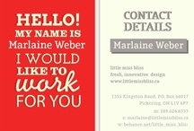 marlaine ♥ designspiration - business cards / hand these out! / by little miss bliss
