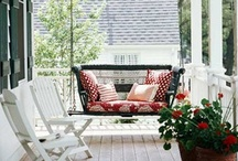come sit on my porches / Hope you enjoy your stay.... / by Juanita Holmes