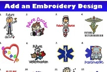 Personalized Kids Scrubs and Lab Coats / Custom Embroidery for your Little Docs Scrub Set or Lab Coat. / by My Little Doc