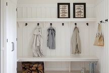 front hall and mud room / by Lucy (Craftberry Bush)