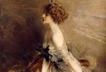"Artists:    Boldini / Giovanni Boldini (1842-1931) was an Italian genre and portrait painter. He was know as ""the master of swish"" for his flowing style of painting.  / by Lynne Wedeen"