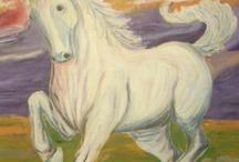 Pintora Painter / Me encanta pintar, uso varias tecnicas;oleo acrilicos,tinta ,papel etc / by mildia mattos