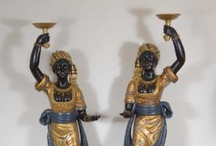 Blackamoor Statues Figurines / by Canonbury Antiques