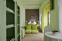 Interiors: Green / by Corinne Kowal @emeraldgreeninteriors.com