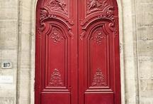 Colorful doors / by Corinne Kowal @emeraldgreeninteriors.com
