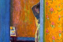 Bonnard Beauty / Pierre Bonnard (3 October 1867 – 23 January 1947) was a French painter and printmaker.  known for his intense use of color, especially via areas built with small brushmarks and close values, his often complex compositions—typically of sunlit interiors of rooms and gardens populated with friends and family members—are both narrative and autobiographical. His wife Marthe was an ever-present subject over the course of several decades.  / by Andrea Dunmire