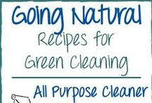 A Greener Clean / Make your own cleaning products with more natural, simplified ingredients. Ditch the chemicals and start cleaning the healthier (and more economical) way!  / by He and She Eat Clean
