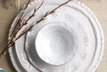 Solid White Dinnerware from la Terrine / Solid white dinnerware is always classic and elegant. See more styles and designers at www.laterrinedirect.com / by la Terrine