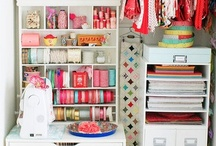 craft room / by Holly Bouslough