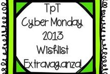 TpT Cyber Monday SALE ITEMS / by LeanneBaurs CreativeClassroom