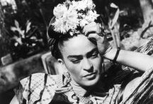 Style Icon: Frida Kahlo / Famous 20th century Mexican painter best known for her self-portraits and eclectic folk dressing. / by Cheryl McMullen