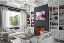 KERRISDALE PROJECT /  3D concepts for project. Under construction 2014 / by Andrea Rodman Interiors