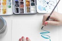 Learn: Watercolor / Learn to make art! / by Alisha Galbraith