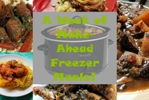 A Week of Make-Ahead Meals: freeze and cook in the crock pot! / by StuffIMakeMyHusband