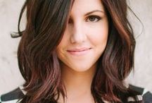 Dark Hair-Brown & Black / Dark hair colors and styles ranging from light brown to black. / by Chantel M