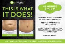 It Works Body Wraps / Have you tried that CRAZY wrap thing? Have you even heard of it before? The It Works body wraps or the Ultimate Body Applicator.   You can Tighten, Tone and Firm in as little as 45 minutes using this mess free, simple to use body wrap. Check it out today! http://BodyWrapDiscount.com #natural / by Dan Howard
