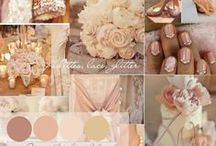 The Real Deal Wedding day is almost here! / #wedding day pink nude gold ivory princess ballgown / by Priscila Rodriguez