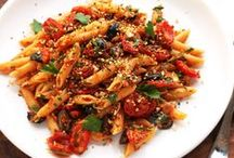 Vegan Pasta and Noodles / Carbohydrate-filled goodness!  (all recipes are VEGAN unless noted that veganization is required) / by Gabrielle Smith