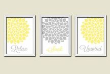 Bathroom Renovation :) / Yellows and Greys... You are my sunshine, my only sunshine theme :)  / by Alanna Duncan