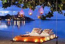 Romantic Honeymoon / Al het werk is gedaan, nu heerlijk van elkaar genieten op een absolute droomlocatie! De mooiste plekjes op aarde komen op ons board te staan. Net als de mooiste en handigste hebbedingetjes voor op reis! / by Covers Couture Bruidsmode
