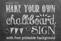 Chalkboards / by Kristin Bergthold | Yellow Bliss Road