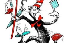 """OB{SEUSS}IONS / j'adore les livres pour enfants... j'adore aussi les mots, les jeux de mots, la poésie du non sens... je ne peux donc qu'aimer le Dr Seuss !... j'adore sa """"philosophie"""", son esprit, son humour si particulier... une véritable ob{seuss}ion !... ici, ce sont des citations, des créations, des images venues de boutiques (mais dont chacun peut s'inspirer !), bref tout pour retrouver cet univers qu'adorent les enfants – et ceux qui en ont gardé l'âme ! / by Isabelle de Beukelaer"""