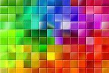 """couleurs : over the rainbow... / il y a des images """"sages"""", où une couleur domine... et il en est d'autres où les couleurs éclatent, se heurtent, se mêlent, s'opposent, même, parfois... mais qui, par une sorte de magie, ont une beauté particulière qui défie toutes les lois de l'art et du design pour ravir nos yeux et nous faire oublier nos """"principes""""... et puis... pourquoi choisir """"une"""" couleur ?... elles sont toutes ici, sous différentes formes... dans tout leur éclat... / by Isabelle de Beukelaer"""