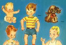 """paper dolls : freebies / une fois de plus, """"je vous parle d'un temps que les moins de vingt ans..."""" (ça commence pas à faire """"vieille"""", tout ça ?!?... pis, après tout, m'en fous : éternellement jeune dans la tête et le cœur, c'est le principal, non ?...) : on (re)découvre depuis quelques temps ces """"paper dolls"""" qui faisaient la joie des fillettes il y a quelques décennies... bienvenue au royaume des """"Poupées de papier"""" !... / by Isabelle de Beukelaer"""