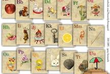 """freebies : alphabets, lettres, monogrammes... / titres, sous-titres, compliments, journaling, légendes, monogrammes... il y en a, des lettres, sur nos créations !!!... en voici un choix très éclectique : vous y trouverez sans doute ce dont vous avez besoin !... (sinon, mettez un petit mot et nous le chercherons !) nous ajouterons aussi bientôt un board """"polices"""", alors venez faire un petit tour ici de temps en temps !...  / by Isabelle de Beukelaer"""