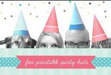 LET'S PARTY ! freebies et idées / pour vos fêtes, des idées glanées ici et là sur le Net, plus ces quelques freebies, avec lesquels nous allons vous faire faire des économies : hormis l'encre et le papier, toutes ces jolies choses ne vous coûteront rien !... / by Isabelle de Beukelaer