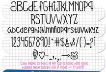 freebies : fonts / by Isabelle de Beukelaer
