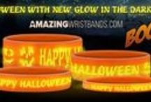 Glow-in-the-dark Halloween Wristbands On Sale Now / Just $2.99 for standard shipping! Minimum 5 piece order. 1 – 9 $1.00 per band 10 – 19 $0.75 per band 20 and up - $0.50 per band - visit http://www.amazingwristbands.com/ or call  1-800-269-0910 to order! / by Amazing Wristbands