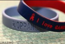 Gangnam Style Wristbands / Create Gangnam Style wristbands to get in on the trend. Customized Gangnam Style wristbands are made with your personalized message. Request a quote online at http://www.amazingwristbands.com/. / by Amazing Wristbands